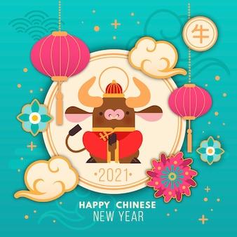 Buntes chinesisches neujahr 2021