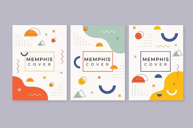 Buntes design-cover-pack Kostenlosen Vektoren