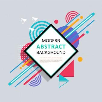 Buntes Design des abstrakten geometrischen modernen Musters