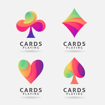 Buntes design des spielkartensymbols