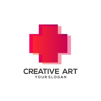 Buntes design mit medizinischem logoverlauf
