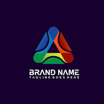 Buntes dreieck-logo-design