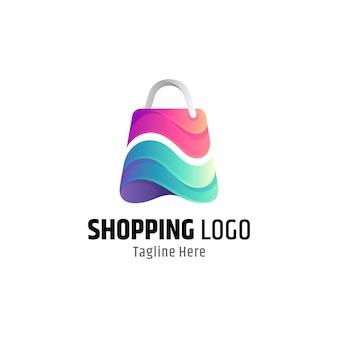 Buntes einkaufstaschenlogo