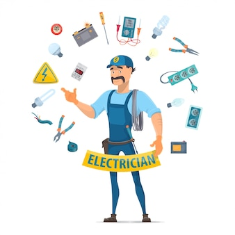 Buntes elektrizitätselement-konzept