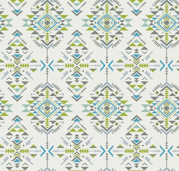 Buntes ethnisches nahtloses muster mit geometrischen formen