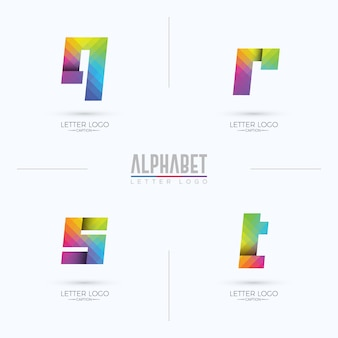 Buntes farbverlauf pixelated origami style qrst letter logo
