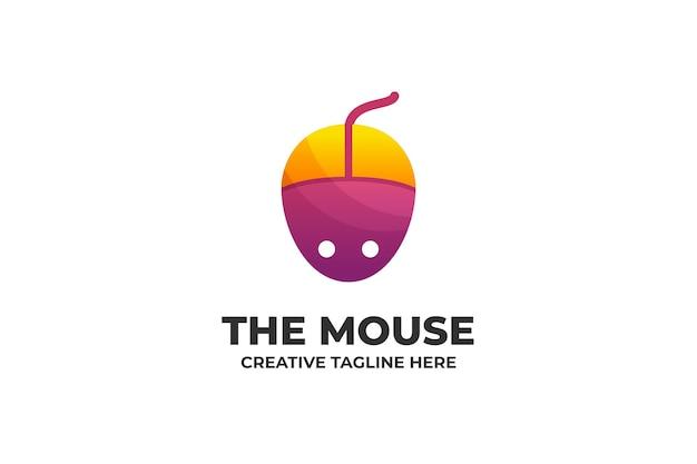 Buntes farbverlaufs-logo der maus