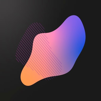 Buntes farbverlaufselement mit linien
