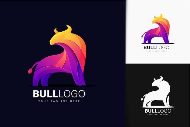 Buntes farbverlaufstier-logo-design