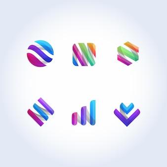 Buntes firmenzeichen des abstrakten ikonenvektorzeichens