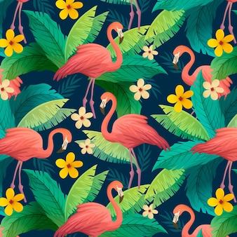 Buntes flamingomuster