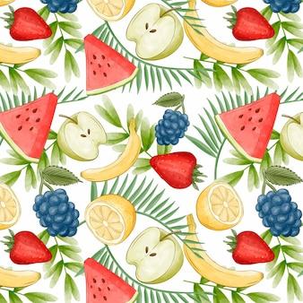 Buntes fruchtmuster Kostenlosen Vektoren