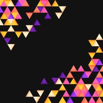 Buntes geometrisches dreieckmuster