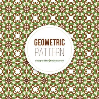 Buntes geometrisches muster mit flachem design