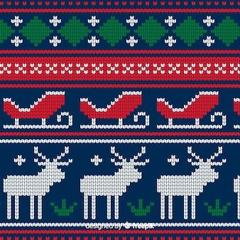 Buntes gestricktes weihnachtsmuster