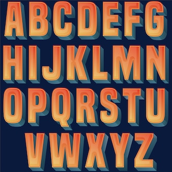 Buntes glattes typografieentwurf