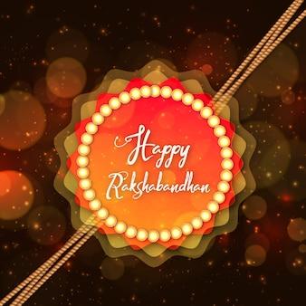 Buntes glückliches rakshabandhan hintergrund-plakat