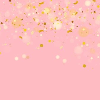 Buntes goldkonfetti vektorfeiertagsillustration des fallenden glänzenden konfettis