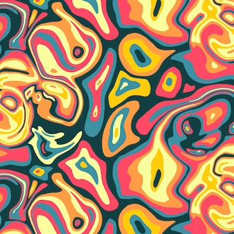 Buntes grooviges psychedelisches muster