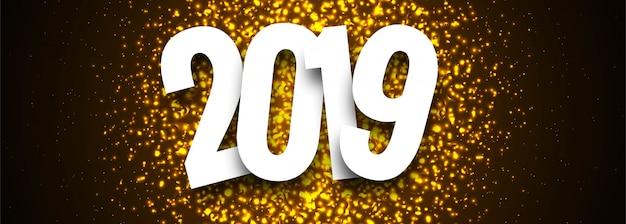 Buntes guten rutsch ins neue jahr-fahnendesign der feier 2019