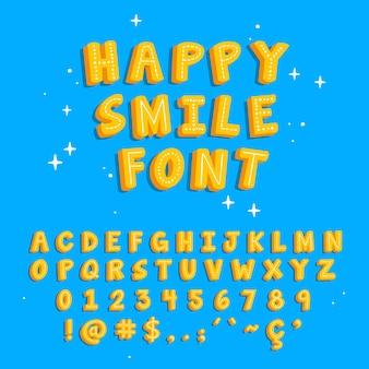 Buntes handgezeichnetes alphabet