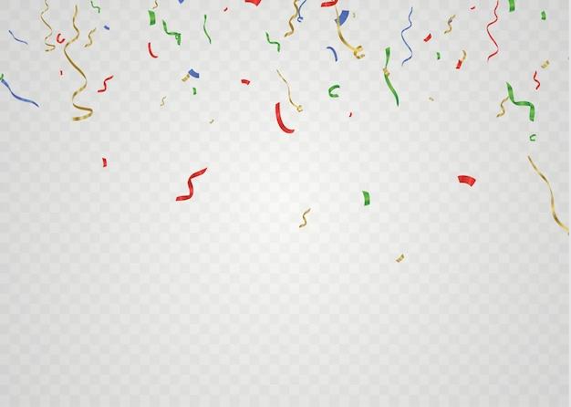 Buntes helles konfetti. festliche veranstaltung und party.