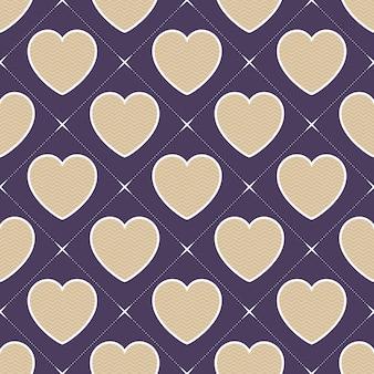 Buntes herzmuster mit geometrischer form. valentinstag hintergrund für urlaubsvorlage. kreative und luxuriöse illustration