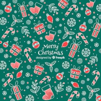 Buntes hintergrundmuster der frohen weihnachten