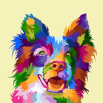 Buntes hundepop-art-porträtplakat
