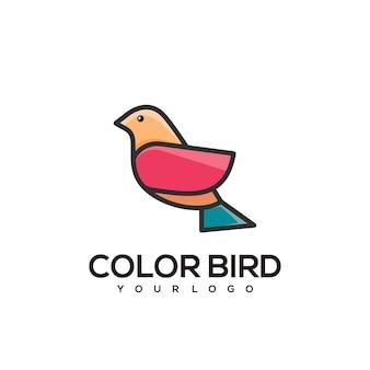 Buntes illustrationslogo des abstrakten vogels