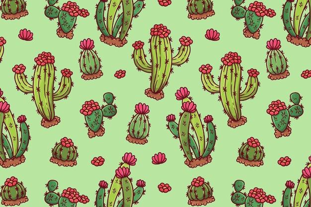Buntes kaktusmuster