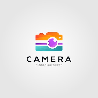 Buntes kamerafotografielogo