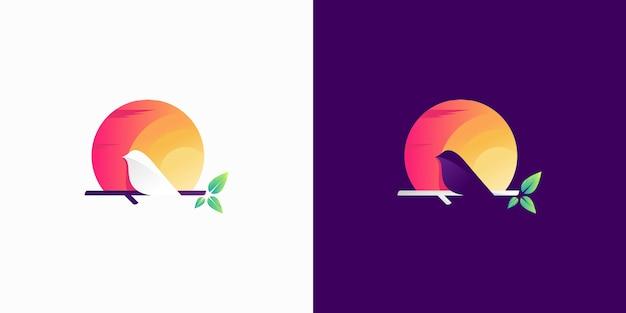 Buntes kanarisches silhouette-logo
