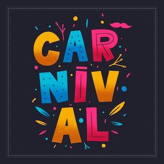 Buntes karnevalskonzept mit beschriftung