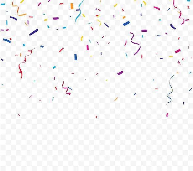 Buntes konfetti-feiernentwurf lokalisiert