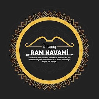 Buntes konzept für ram navami day event