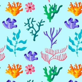 Buntes korallenmuster