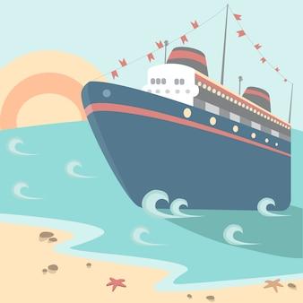 Buntes kreuzfahrtschiff