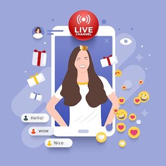 Buntes live-stream-konzept
