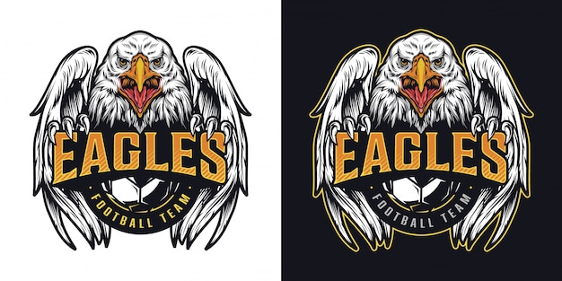 Buntes logo der fußballmannschaft vintage