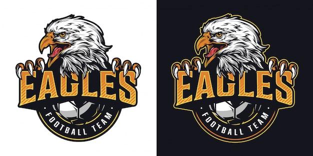 Buntes logo der fußballmannschaft