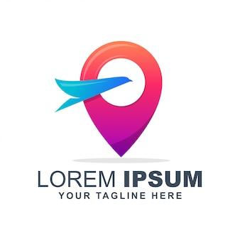 Buntes logo des ausflugs und der reise