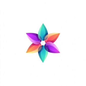 Buntes logo des lotus-blumenyoga
