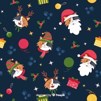 Buntes lustiges weihnachtsmuster