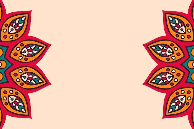 Buntes mandala des luxusgoldhintergrundes