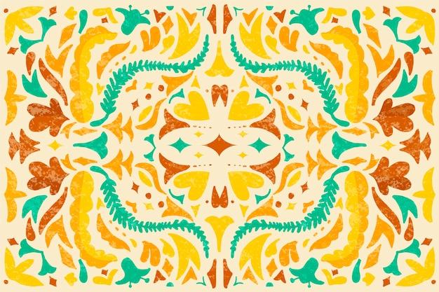 Buntes mexikanisches hintergrundthema des flachen designs