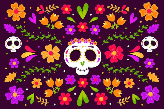 Buntes mexikanisches hintergrundthema