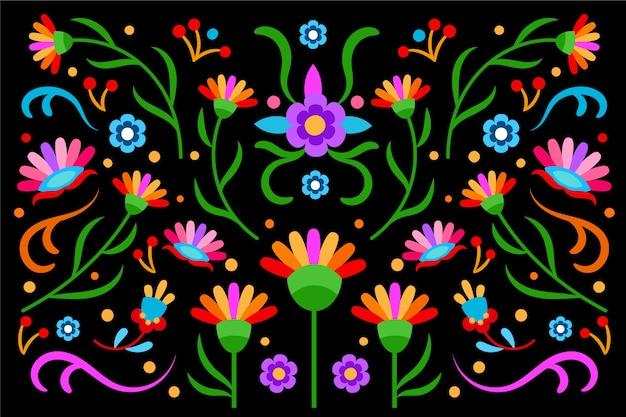 Buntes mexikanisches tapetendesign