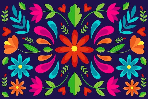 Buntes mexikanisches tapetenkonzept