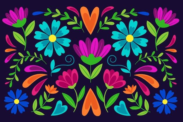 Buntes mexikanisches tapetenthema